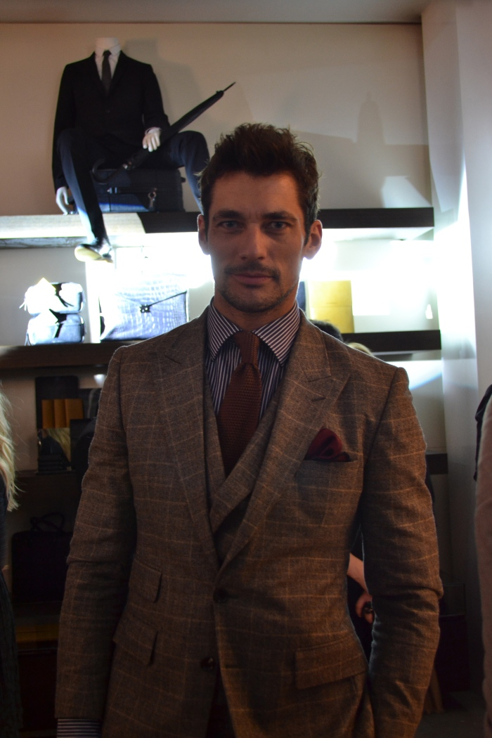 Who's that guy............?! David Gandy At Burberry Event