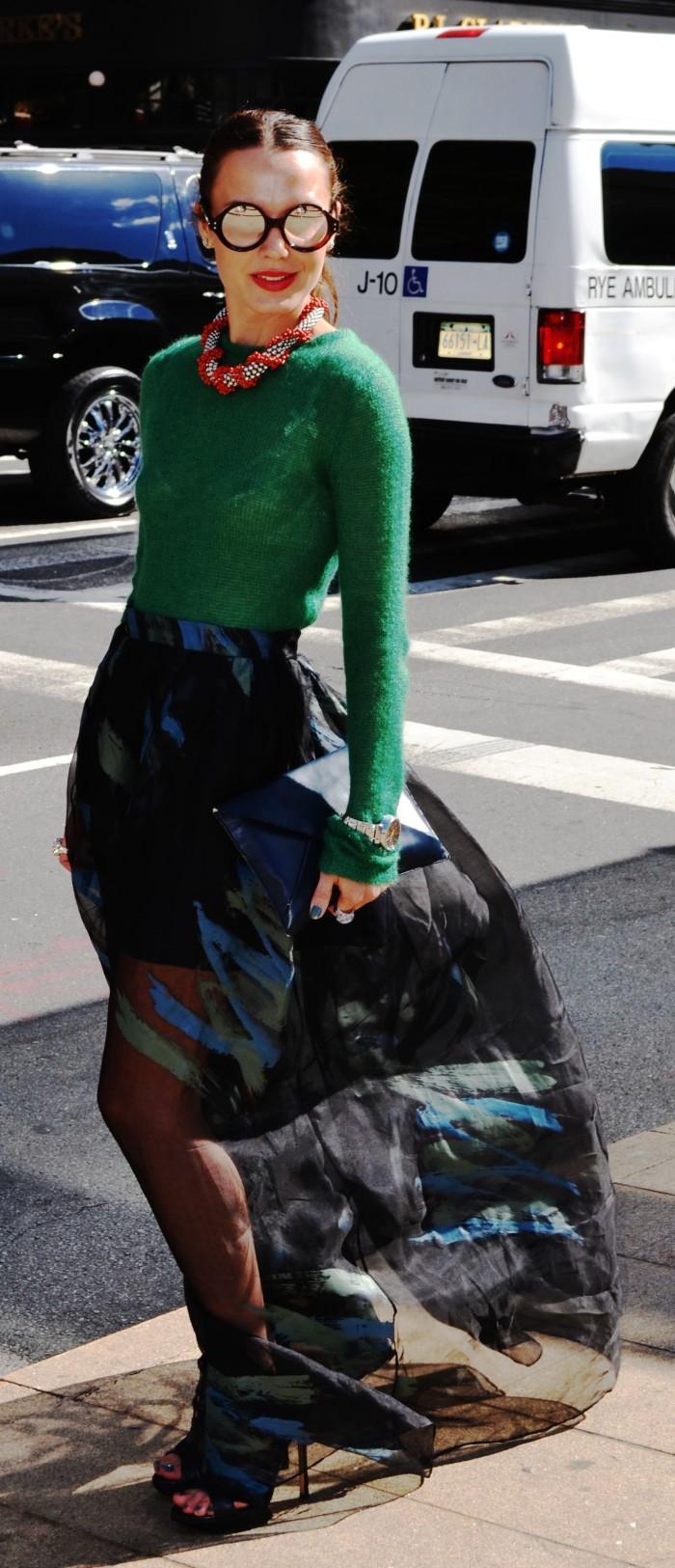 The Green mohair jumper Girl